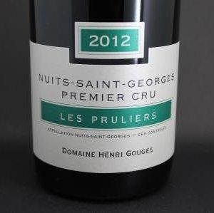 Nuits St Georges 1er cru les Pruliers Henri Gouges 1