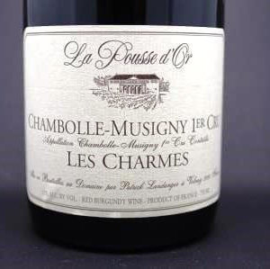 chambolle musigny les charmes pousse d'or
