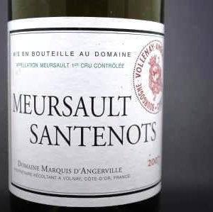 meursault santenots marquis d'angerville