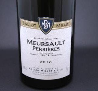 Meursault 1er cru Perrières Ballot Millot